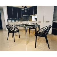 Crystal Polycarbonate Modern Dining Chair Transparent ISP052-TCL - 12