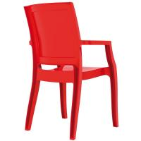Arthur Polycarbonate Arm Chair Red ISP053-GRED - 1