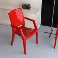 Arthur Polycarbonate Arm Chair Red ISP053-GRED - 5