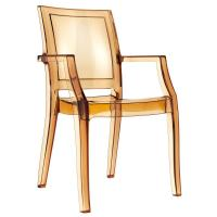 Arthur Polycarbonate Arm Chair Amber