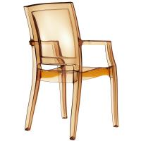 Arthur Polycarbonate Arm Chair Amber ISP053-TAMB - 1