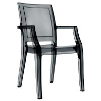 Arthur Polycarbonate Arm Chair Black