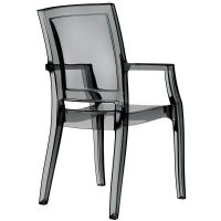 Arthur Polycarbonate Arm Chair Black ISP053-TBLA - 1