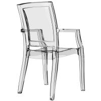 Arthur Polycarbonate Arm Chair Clear ISP053-TCL - 1