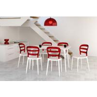 Miss Bibi Dining Chair White Red ISP055-WHI-TRED - 6