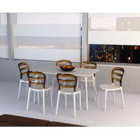 Miss Bibi Dining Chair White Red ISP055-WHI-TRED - 7