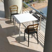 Miss Bibi Dining Chair White Red ISP055-WHI-TRED - 8