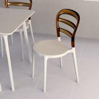 Miss Bibi Dining Chair White Red ISP055-WHI-TRED - 17