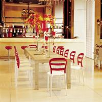 Miss Bibi Dining Chair White Red ISP055-WHI-TRED - 18
