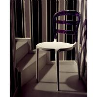 Miss Bibi Dining Chair White Red ISP055-WHI-TRED - 20