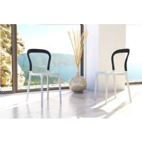 Mr Bobo Chair White with Transparent Amber Back ISP056-WHI-TAMB - 9