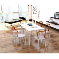 Mr Bobo Chair White with Transparent Amber Back ISP056-WHI-TAMB - 10
