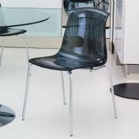 Allegra Indoor Dining Chair Transparent Black ISP057-TBLA - 5