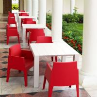 Box Outdoor Dining Chair Red ISP058-RED - 1