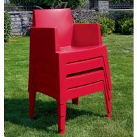 Box Outdoor Dining Chair Red ISP058-RED - 8