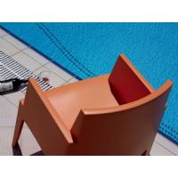 Box Outdoor Dining Chair Red ISP058-RED - 11