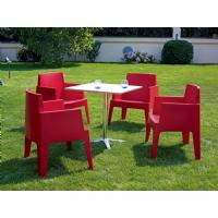 Box Outdoor Dining Chair Red ISP058-RED - 17