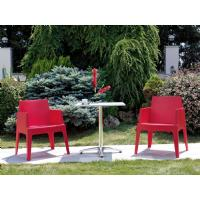 Box Outdoor Dining Chair Red ISP058-RED - 18