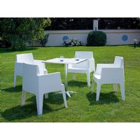 Box Outdoor Dining Chair Red ISP058-RED - 23