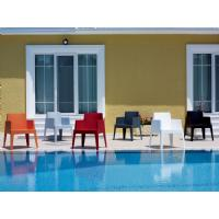 Box Outdoor Dining Chair Red ISP058-RED - 25