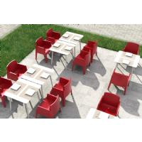 Box Outdoor Dining Chair Red ISP058-RED - 26