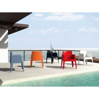 Box Outdoor Dining Chair Red ISP058-RED - 27