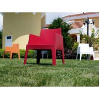Box Outdoor Dining Chair Red ISP058-RED - 28