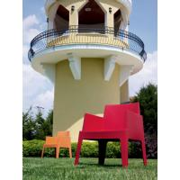 Box Outdoor Dining Chair Red ISP058-RED - 29