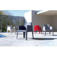 Box Outdoor Dining Chair Red ISP058-RED - 31