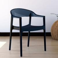 Carmen Dining Armchair Black with Transparent Black Back ISP059-BLA-TBLA - 5