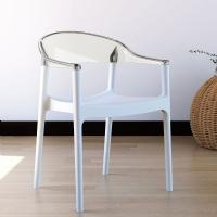 Carmen Dining Armchair White with Transparent Back ISP059-WHI-TCL - 7