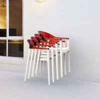 Carmen Dining Armchair White with Transparent Red Back ISP059-WHI-TRED - 8