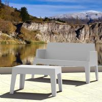 Box Outdoor Bench Sofa Silver Gray ISP063-SIL - 5