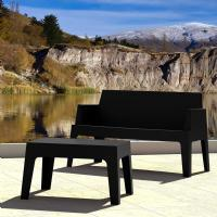 Box Resin Outdoor Coffee Table Black ISP064-BLA - 3