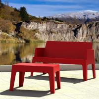 Box Resin Outdoor Coffee Table Red ISP064-RED - 3