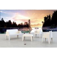 Box Resin Outdoor Coffee Table White ISP064-WHI - 9
