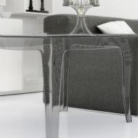 Queen Polycarbonate Square side Table Transparent ISP065-TCL - 3