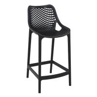 Air Resin Outdoor Counter Chair Black