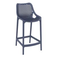 Air Resin Outdoor Counter Chair Dark Gray