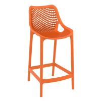 Air Resin Outdoor Counter Chair Orange