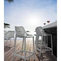 Air Resin Outdoor Counter Chair White ISP067-WHI - 8