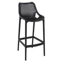 Air Resin Outdoor Bar Chair Black