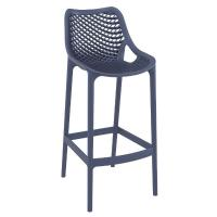Air Resin Outdoor Bar Chair Dark Gray