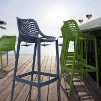 Air Resin Outdoor Bar Chair Dark Gray ISP068-DGR - 5
