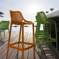 Air Resin Outdoor Bar Chair Orange ISP068-ORA - 5