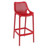 Air Resin Outdoor Bar Chair Red