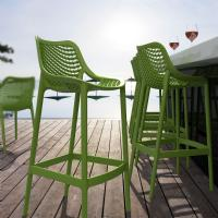 Air Resin Outdoor Bar Chair Tropical Green ISP068-TRG - 5