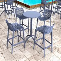 Air Resin Outdoor Bar Chair Dark Gray ISP068-DGR - 7