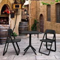 Dream Folding Outdoor Bistro Set with 2 Chairs Black