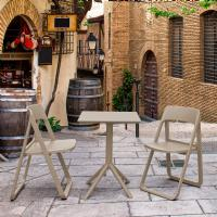 Dream Folding Outdoor Bistro Set with 2 Chairs Taupe